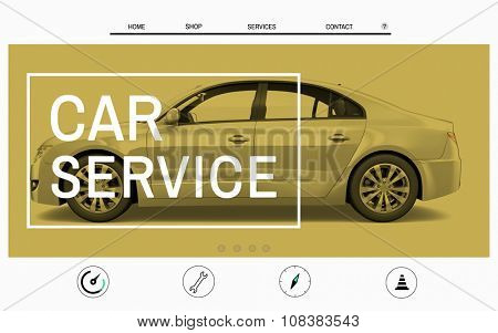 Car Website Homepage Layout Advertising Concept