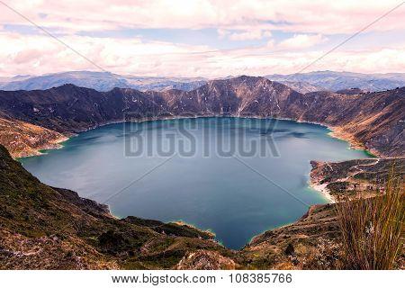 Quilotoa Lake, Water Filled Caldera