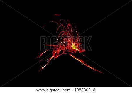 Powerful Explosion Of Tungurahua, Illustration