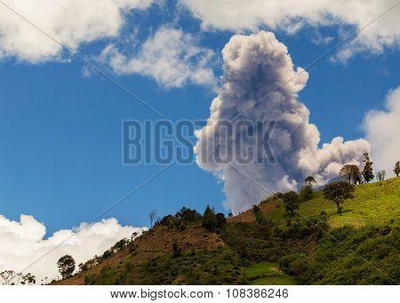 Day Explosion Of Tungurahua Volcano