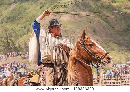 Indigenous Cowboy Throws A Lasso