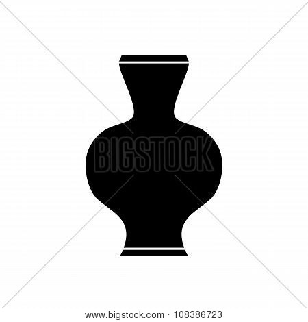 Ancient Vase On White.