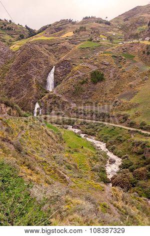 Santa Rosa Waterfall Near An Indigenous Village