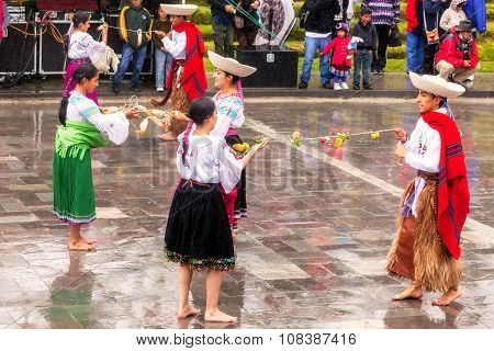 Teenager Celebrating Inti Raymi Pageant