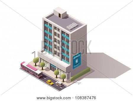 Isometric icon representing office building