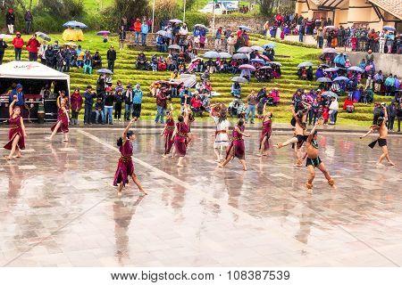 Indigenous Kids Celebrating Inti Raymi
