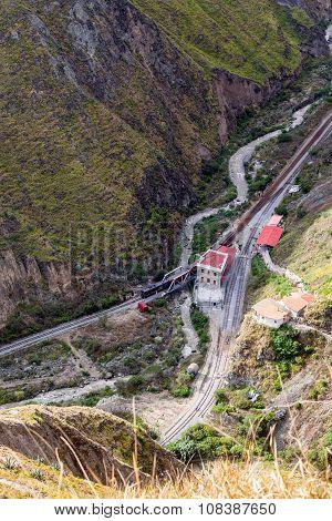 Aerial View Of Railway Bridge, South America