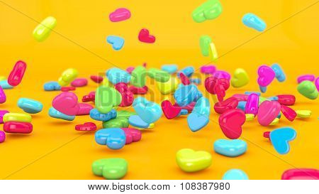 Love Candy Falling 3D