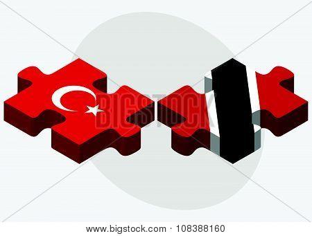 Turkey And Trinidad And Tobago Flags