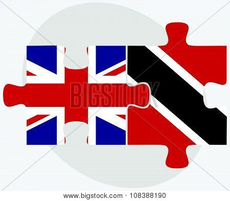 United Kingdom And Trinidad And Tobago Flags