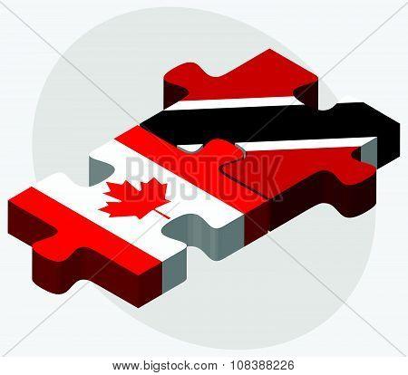 Canada And Trinidad And Tobago Flags