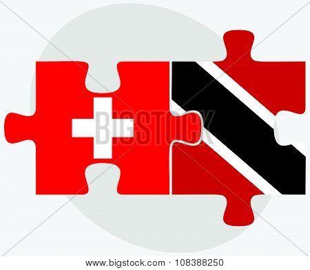 Switzerland And Trinidad And Tobago Flags