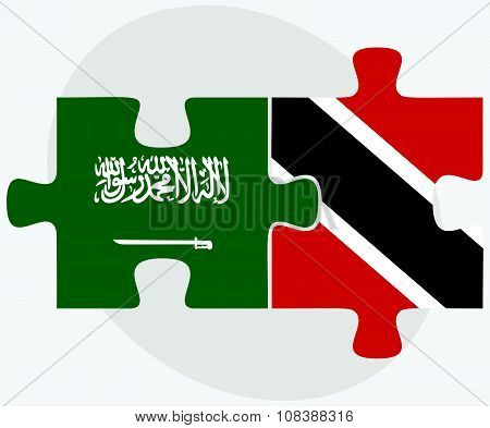 Saudi Arabia And Trinidad And Tobago Flags