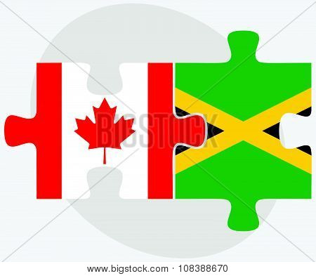 Canada And Jamaica Flags