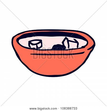 Crockery Bowl of Ice or Food or Dip or Sugar.