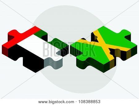 United Arab Emirates And Jamaica Flags