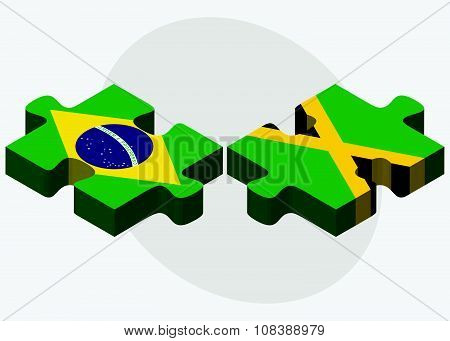 Brazil And Jamaica Flags