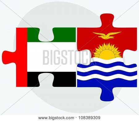 United Arab Emirates And Kiribati Flags