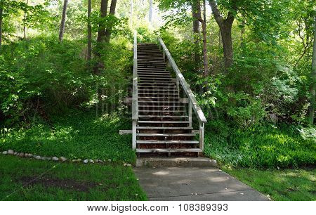 Stairway Up the Bluff