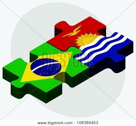 Brazil And Kiribati Flags