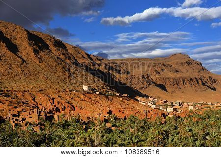 Town and oasis of Tinerhir, Morocco, Africa