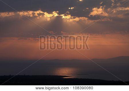 Sundown, Adriatic sea