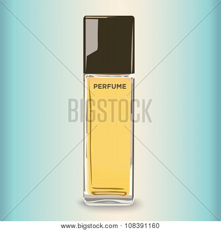 Realistic Perfume Bottle for Use in Beauty Infographics and Drawings.  It Spritzes and Sprays.