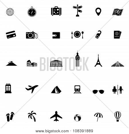 Travel Transportation And Tourism Object Tool And Landmark In Europe Asia Africa And North And South