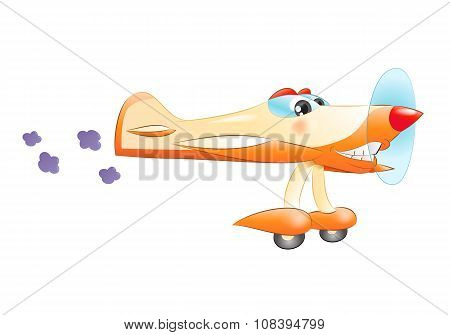 Commercial Propeller Plane Flying