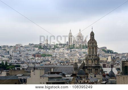 Basilica Sacre Coeur In Montmartre District