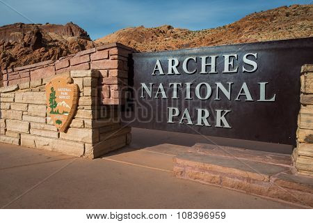 Arches National Park Entrance Sign