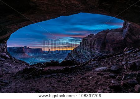 False Kiva After Sunset