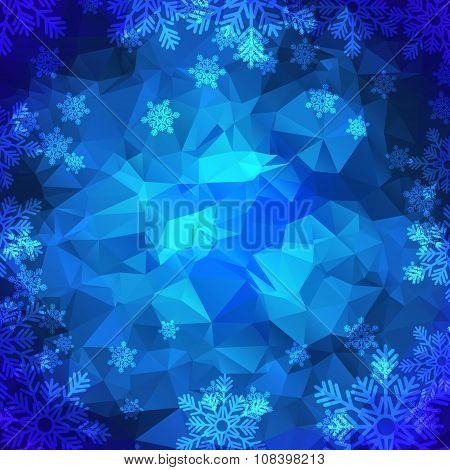 Snowflakes Polygonal Background