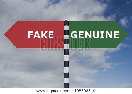Genuine Fake Concept