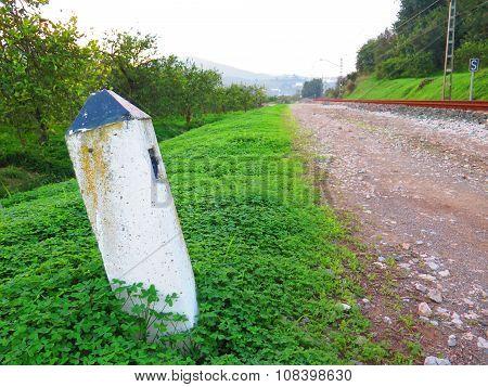 Railway Marker In Shamrock