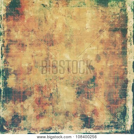 Vintage old texture with space for text or image, distressed grunge background. With different color patterns: yellow (beige); brown; gray; green