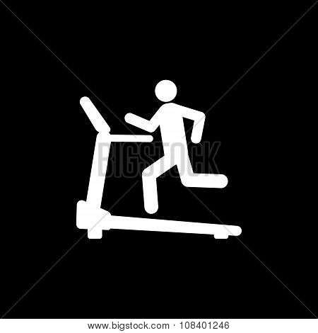 Excersize machine icon. Running symbol
