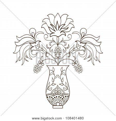 floral bouquet in vase