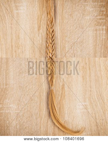 Concept of collaboration - wheat and blonde hair