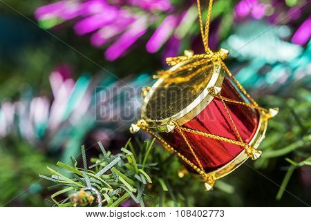 Red Drum Toy Decorations.