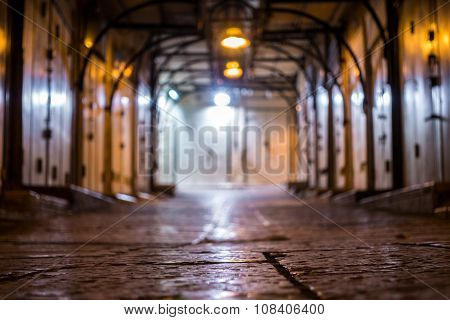 Arabic Market Street Closed At Night