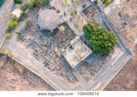 Aerial View Of Capernaum, Galilee, Israel