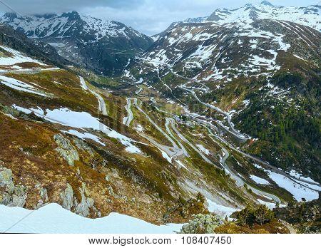Swiss Mountain Roads (grimsel Pass, Switzerland)