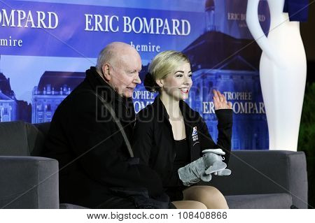 Gracie Gold (usa) And Her Coach Frank Carroll
