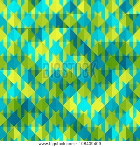 Hounds-tooth patterns in green and blue colors