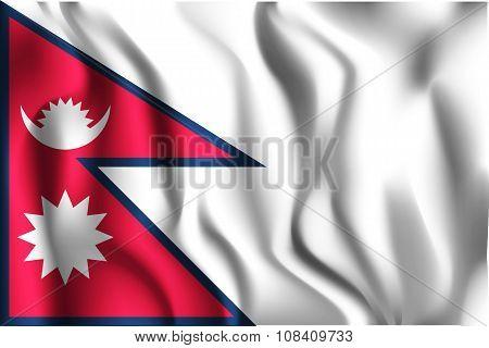 Flag Of Nepal. Rectangular Shape Icon