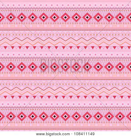 Tribal Ethnic Seamless Stripe Pattern