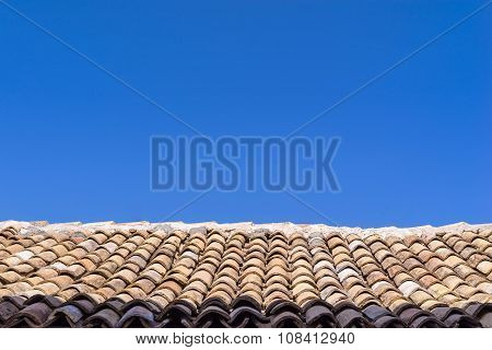 Roof From An Old Tile
