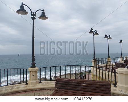 Seafront of Malta island