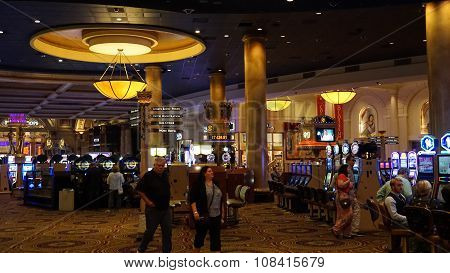 LAS VEGAS, NV - OCT 29: Omnia Nightclub at Caesars Palace Hotel and Casino in Las Vegas, as seen on Oct 29, 2015. Caesars Palace opened in the 1960's and has a Roman Empire theme.